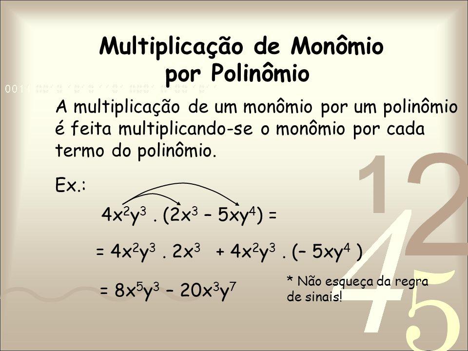 Multiplicação de Monômio