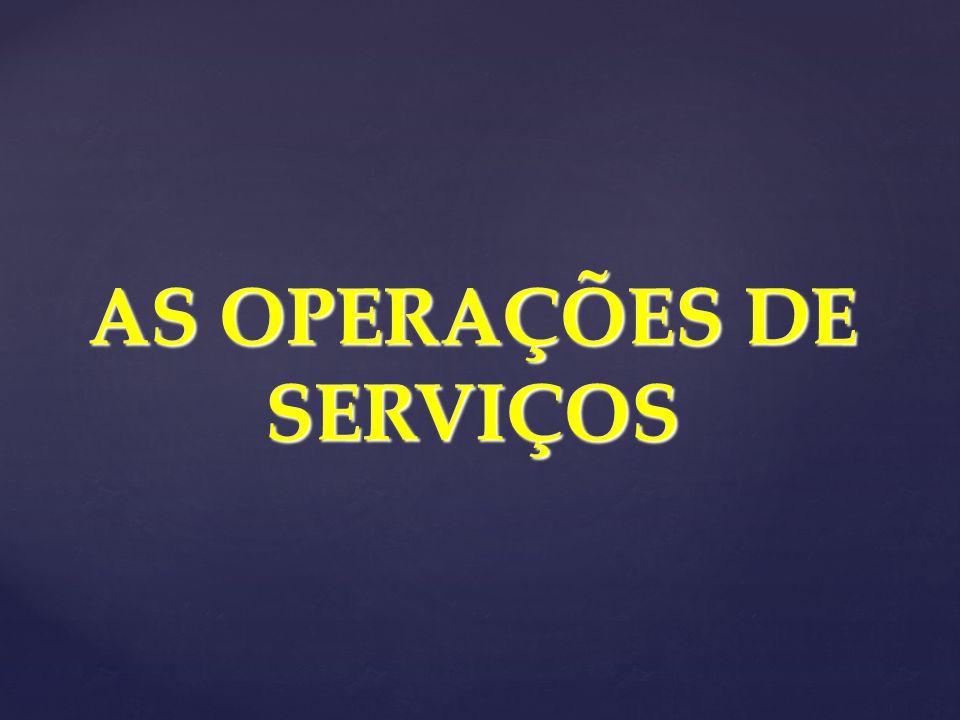 AS OPERAÇÕES DE SERVIÇOS
