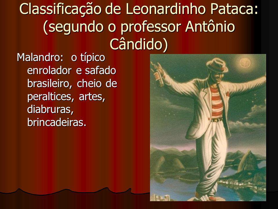 Classificação de Leonardinho Pataca: (segundo o professor Antônio Cândido)
