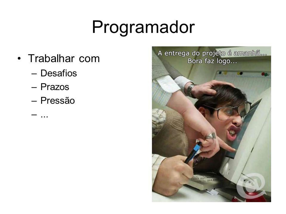Programador Trabalhar com Desafios Prazos Pressão ...
