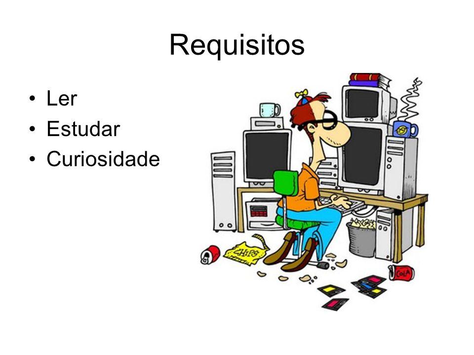 Requisitos Ler Estudar Curiosidade