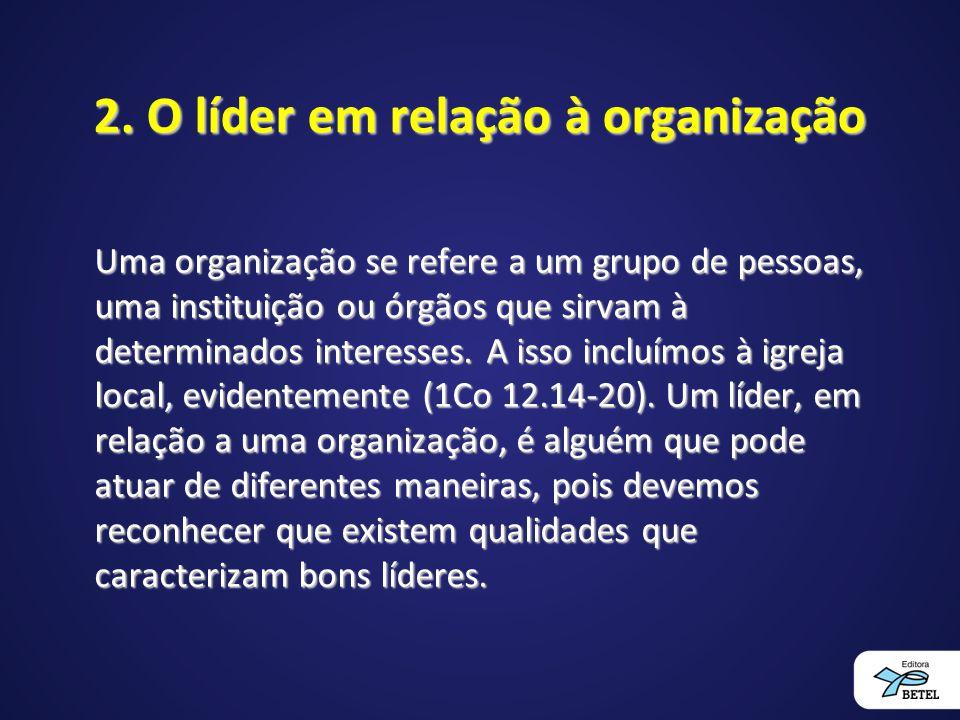 2. O líder em relação à organização