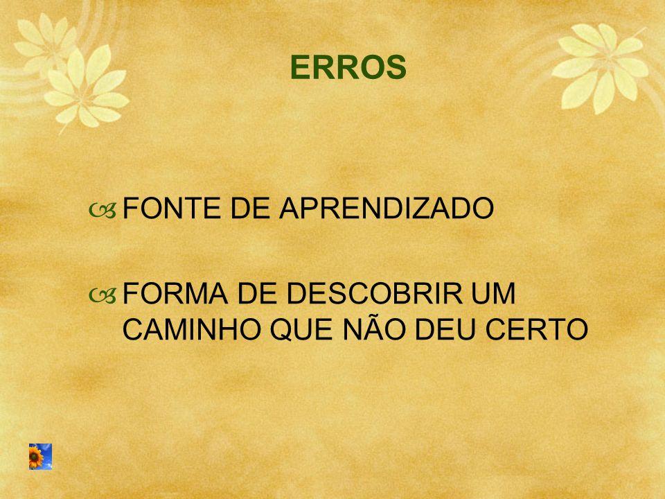 ERROS FONTE DE APRENDIZADO