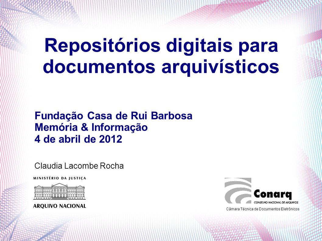 Repositórios digitais para documentos arquivísticos