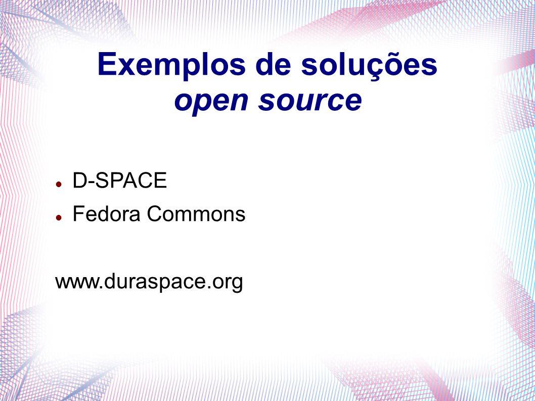 Exemplos de soluções open source