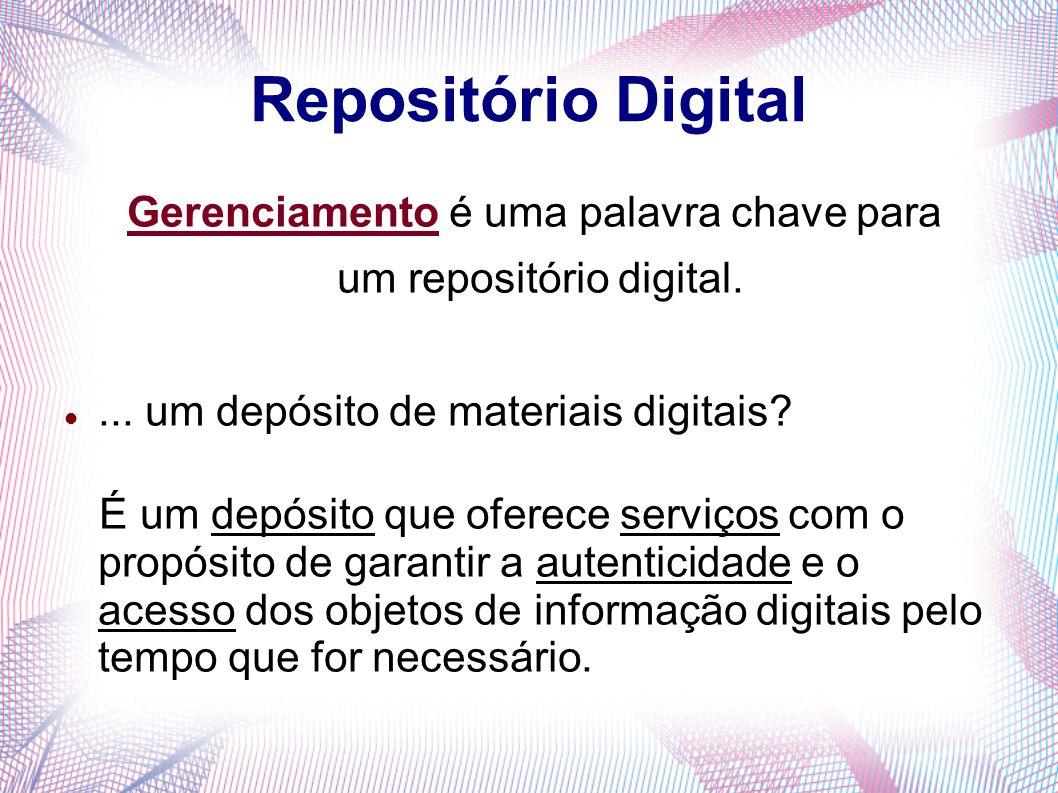 Repositório Digital Gerenciamento é uma palavra chave para