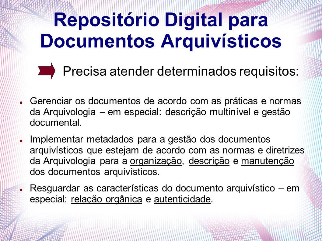 Repositório Digital para Documentos Arquivísticos