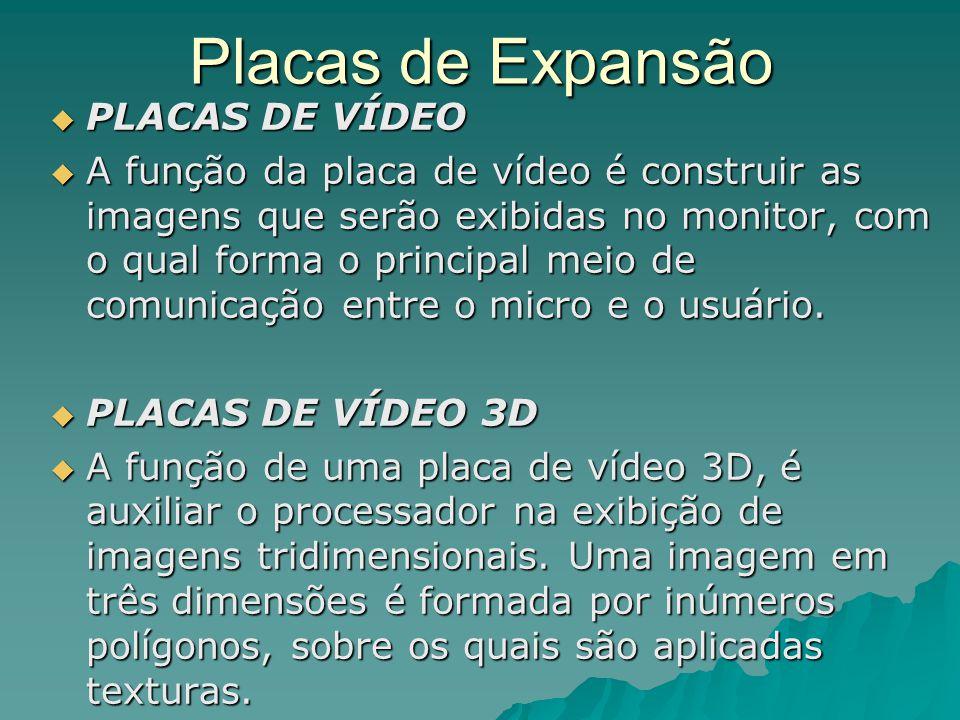 Placas de Expansão PLACAS DE VÍDEO