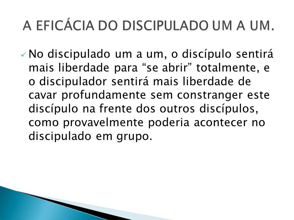 A EFICÁCIA DO DISCIPULADO UM A UM.