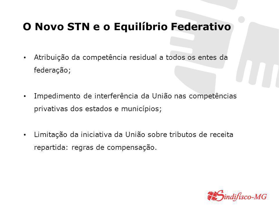 O Novo STN e o Equilíbrio Federativo