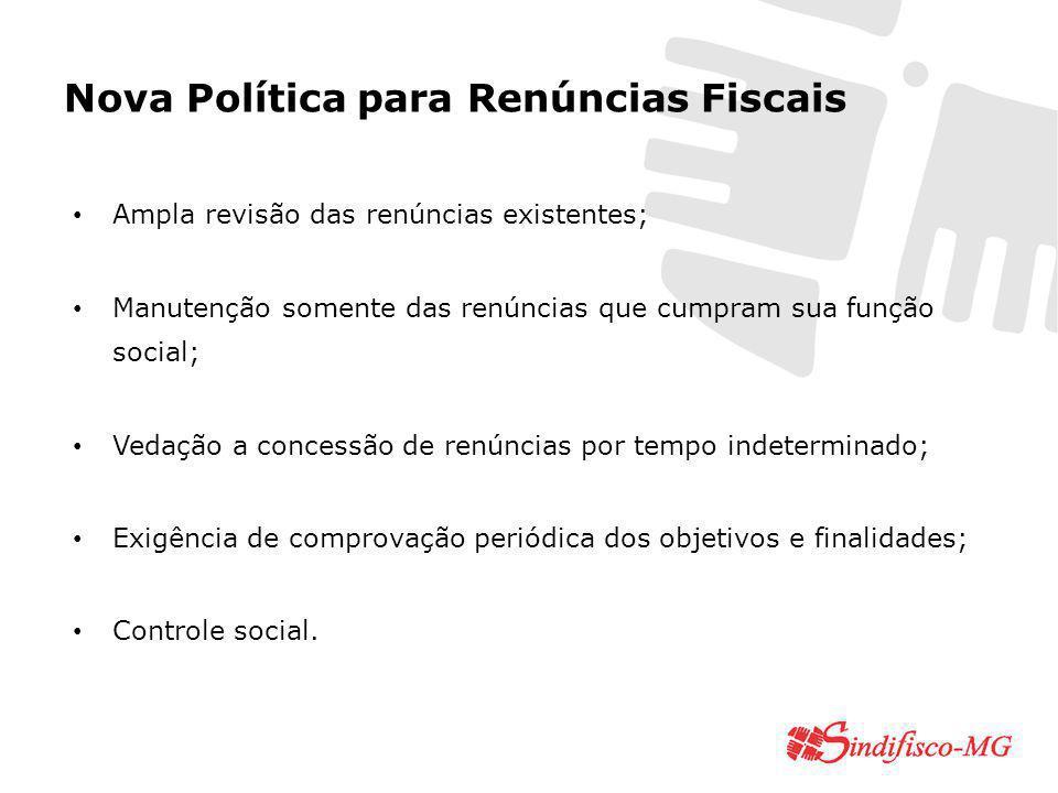 Nova Política para Renúncias Fiscais