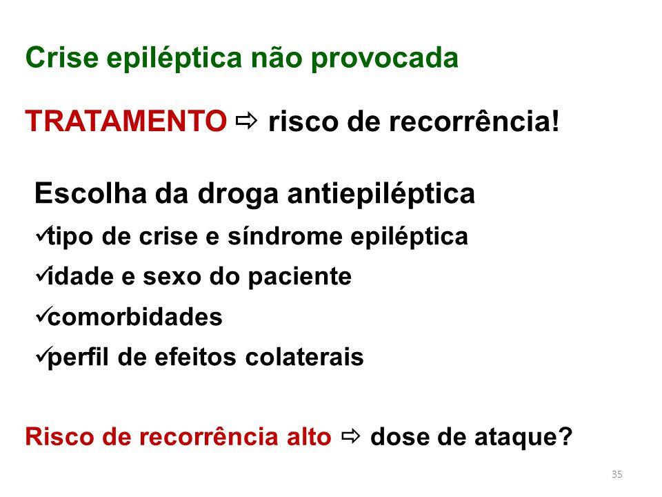 Crise epiléptica não provocada