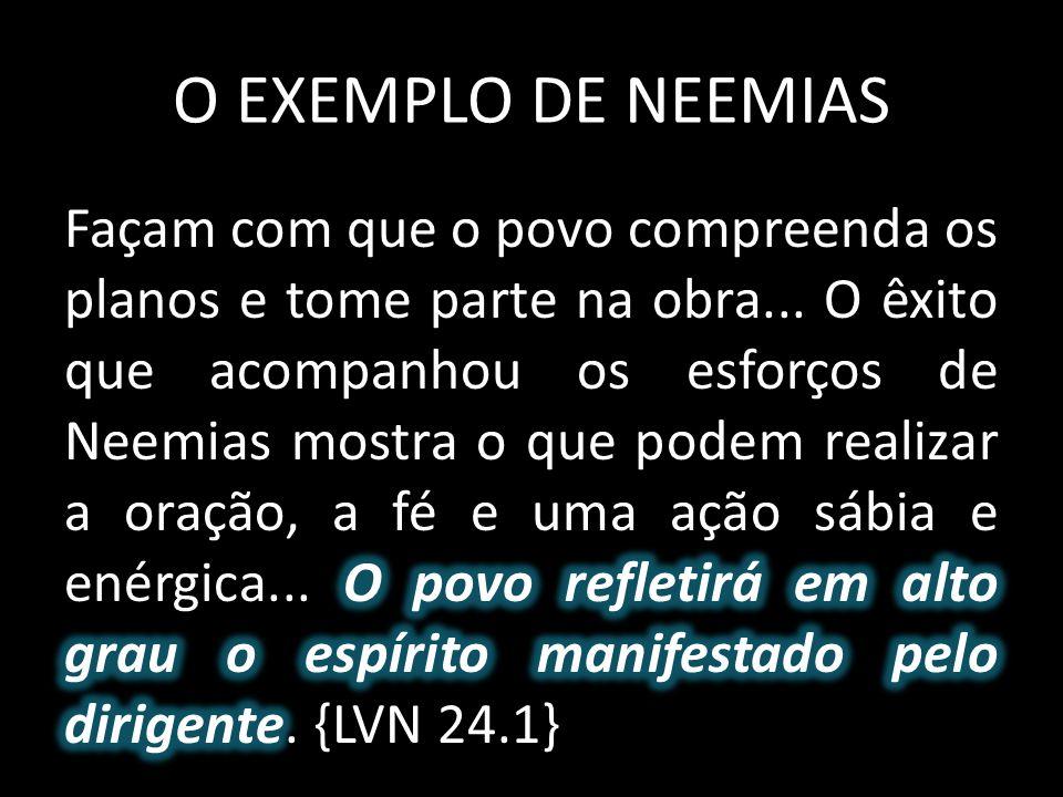 O EXEMPLO DE NEEMIAS