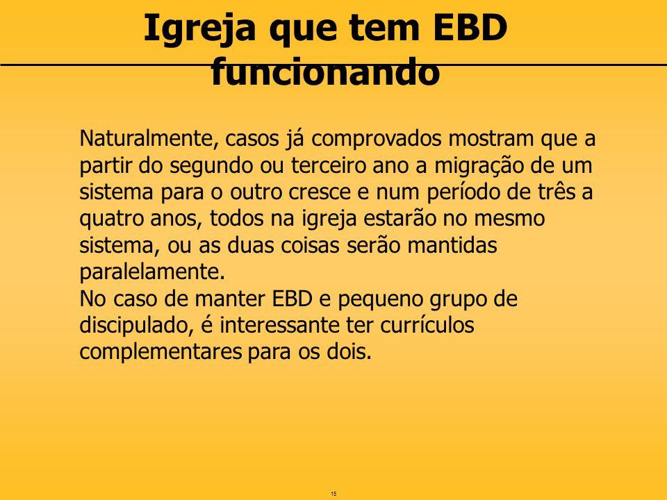 Igreja que tem EBD funcionando