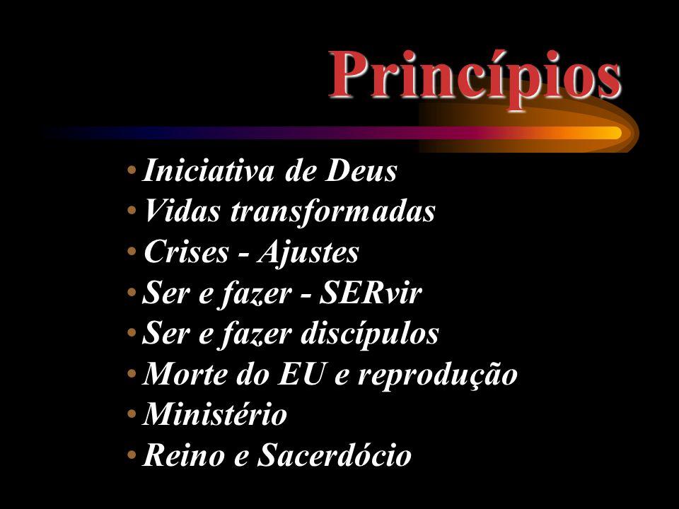 Princípios Iniciativa de Deus Vidas transformadas Crises - Ajustes