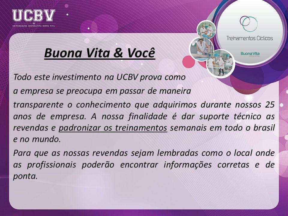 Buona Vita & Você Todo este investimento na UCBV prova como