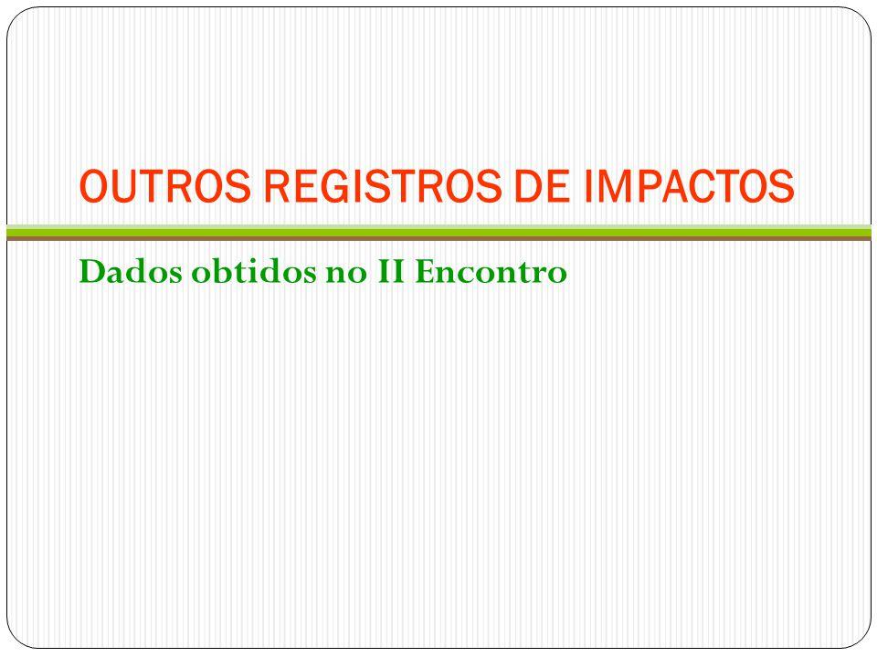 OUTROS REGISTROS DE IMPACTOS