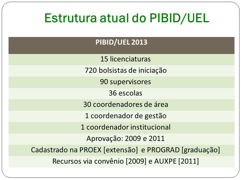 Estrutura atual do PIBID/UEL