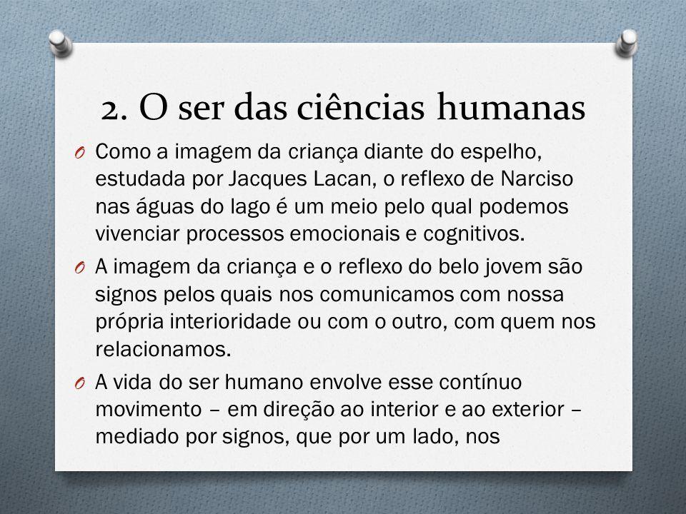2. O ser das ciências humanas