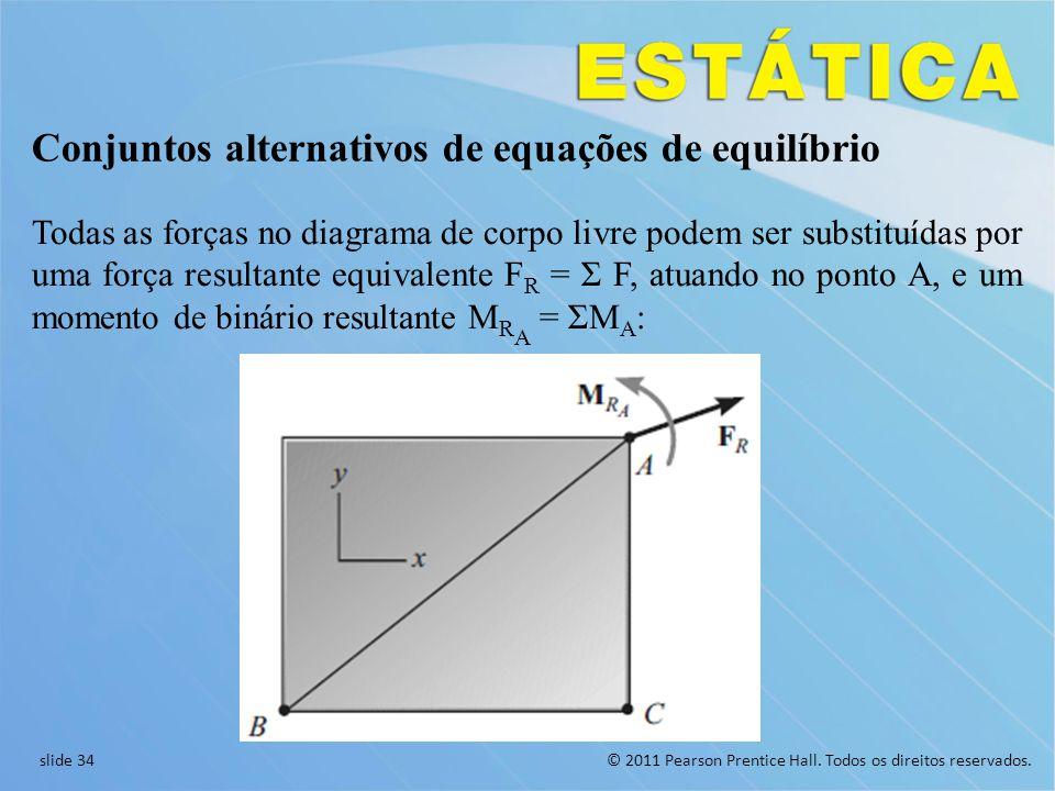 Conjuntos alternativos de equações de equilíbrio