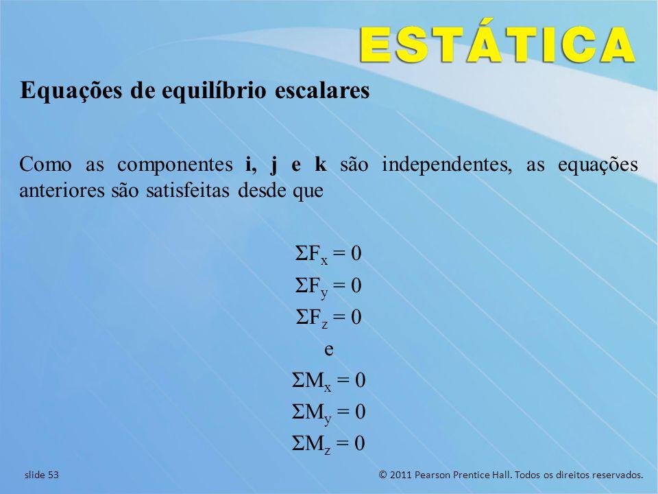 Equações de equilíbrio escalares