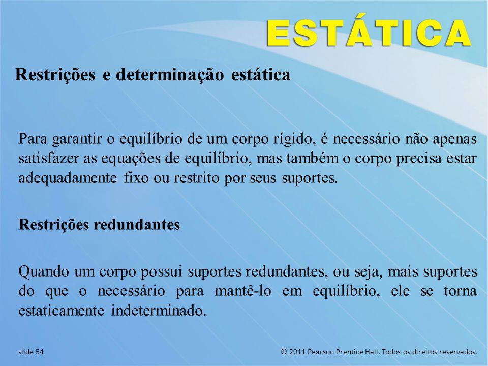 Restrições e determinação estática