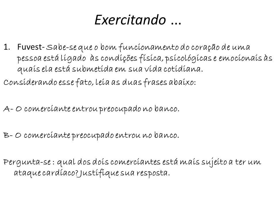 Exercitando ...