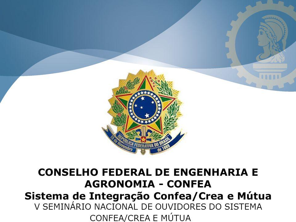 CONSELHO FEDERAL DE ENGENHARIA E AGRONOMIA - CONFEA