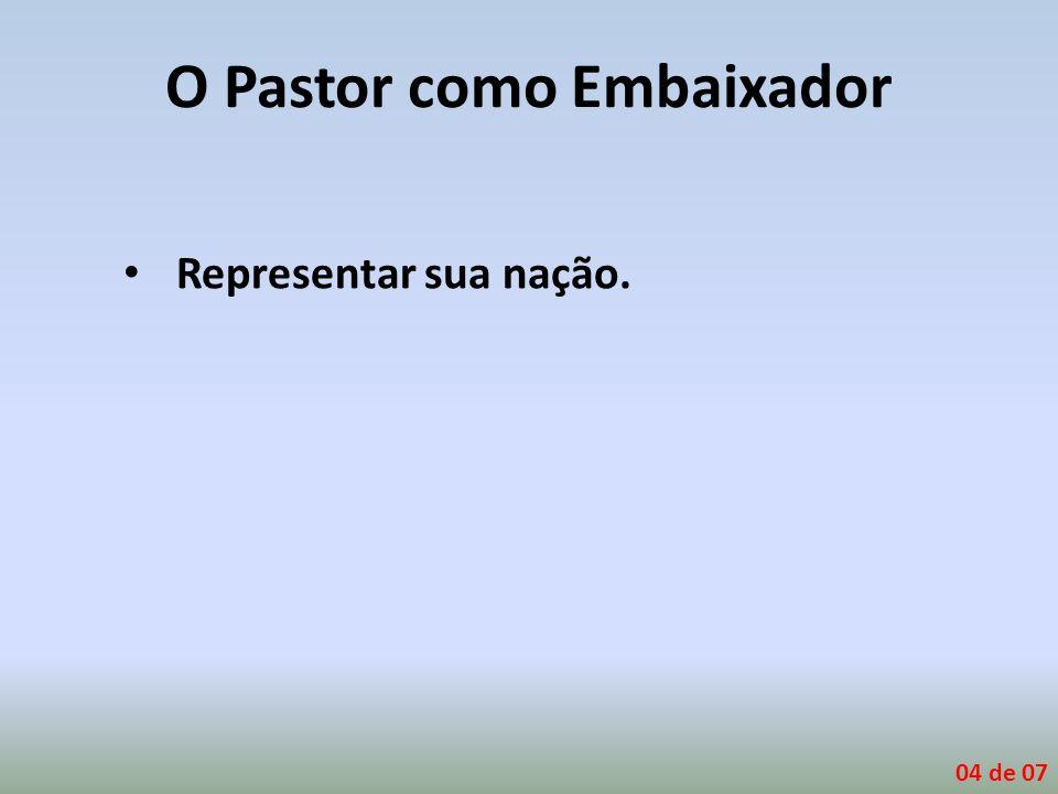 O Pastor como Embaixador