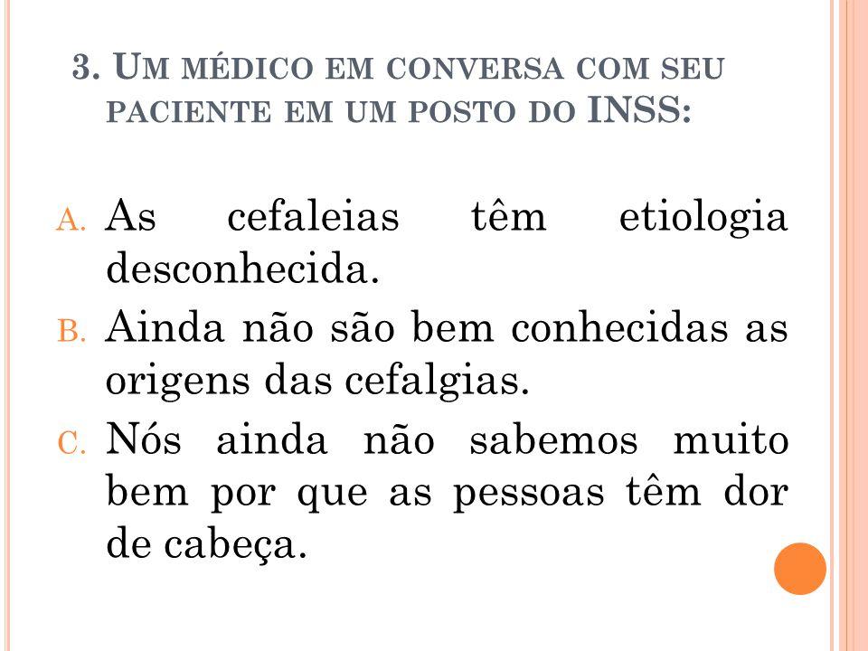 3. Um médico em conversa com seu paciente em um posto do INSS: