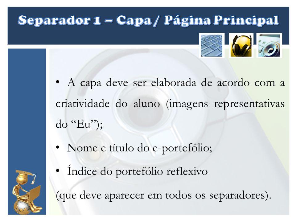 Separador 1 – Capa / Página Principal