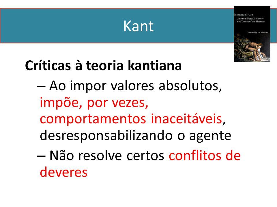 Kant Críticas à teoria kantiana