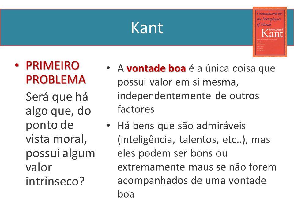Kant PRIMEIRO PROBLEMA