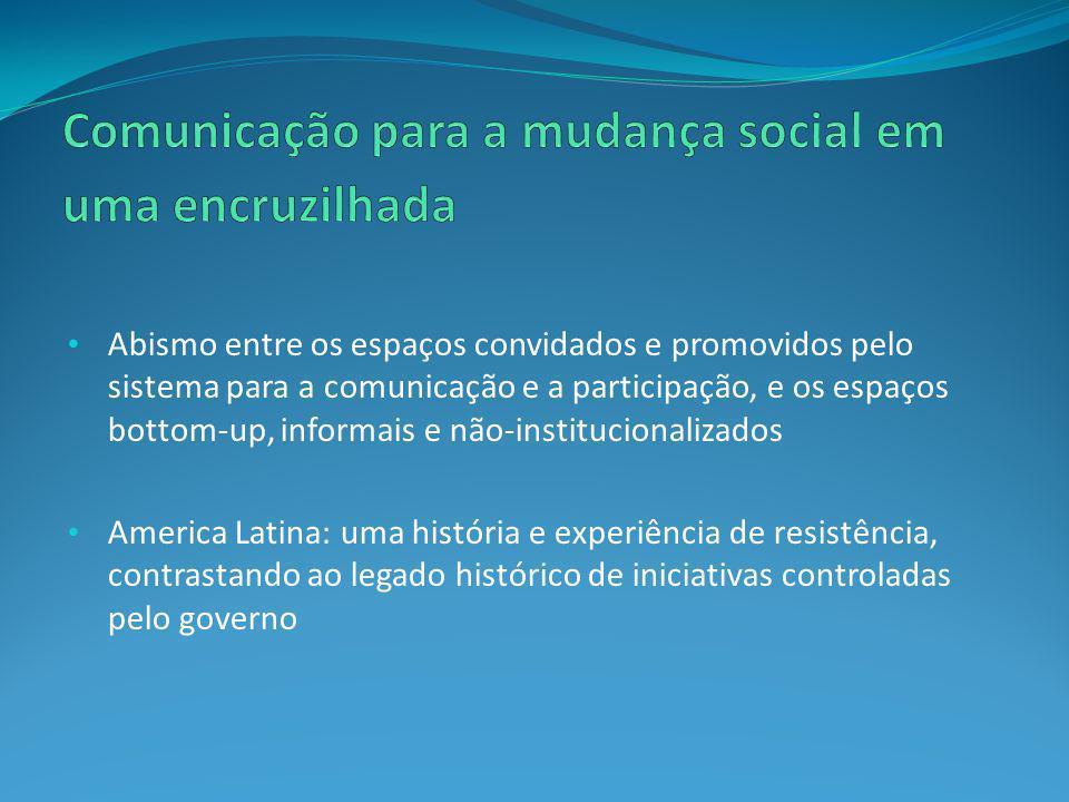 Comunicação para a mudança social em uma encruzilhada