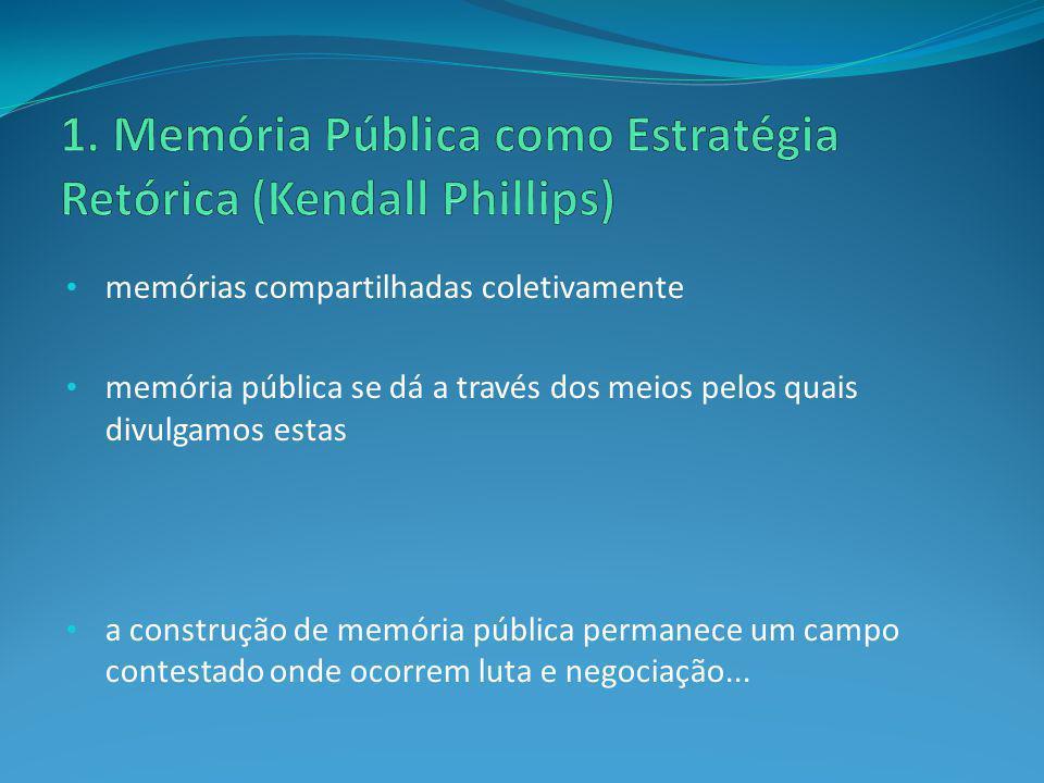 1. Memória Pública como Estratégia Retórica (Kendall Phillips)