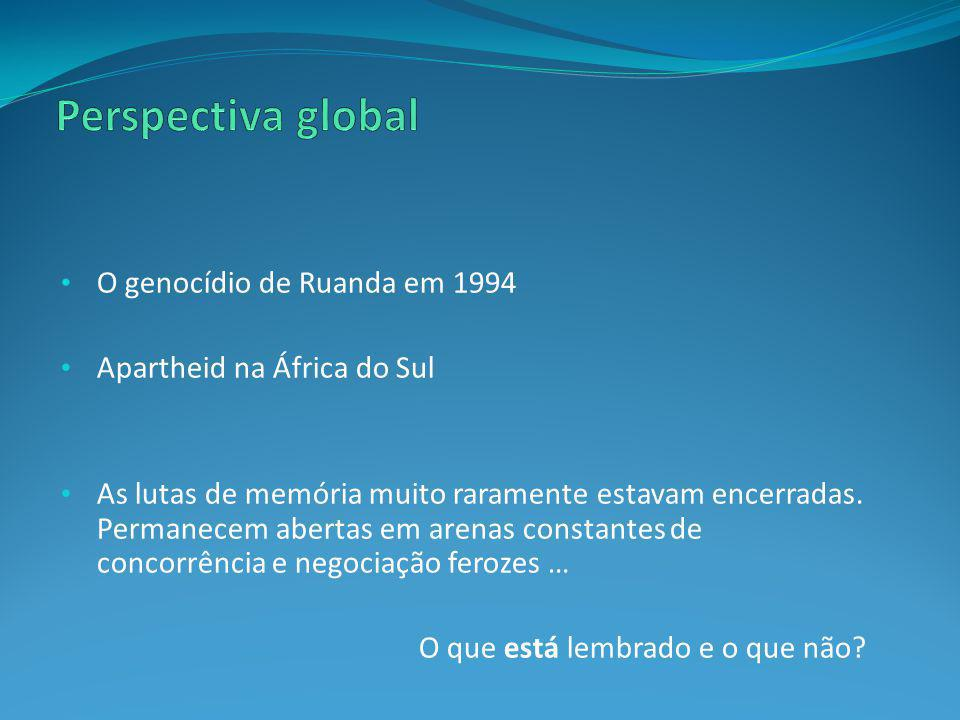 Perspectiva global O genocídio de Ruanda em 1994