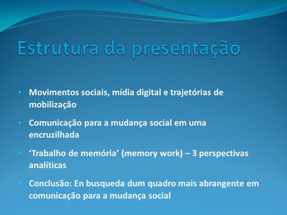 Estrutura da presentação