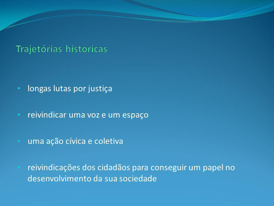 Trajetórias historicas