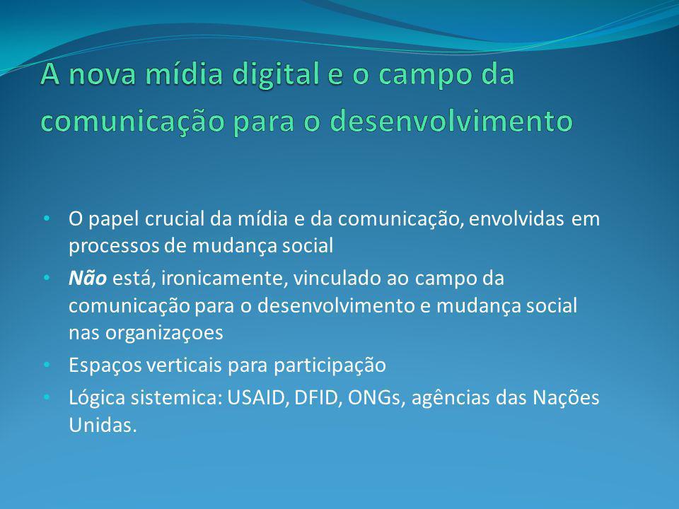 A nova mídia digital e o campo da comunicação para o desenvolvimento