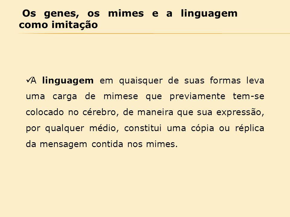 Os genes, os mimes e a linguagem como imitação