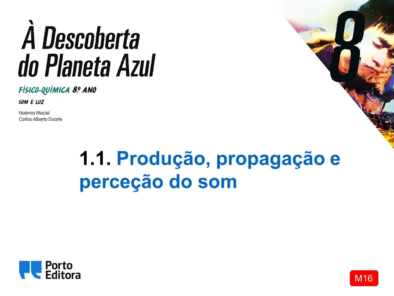 1.1. Produção, propagação e perceção do som