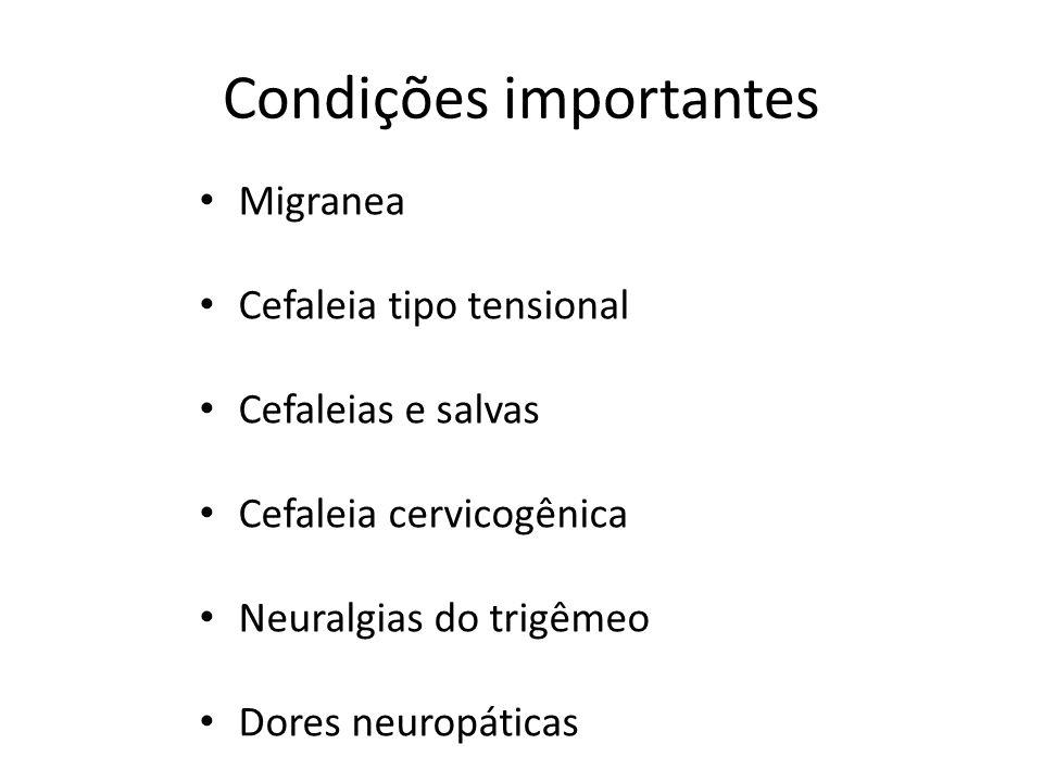 Condições importantes