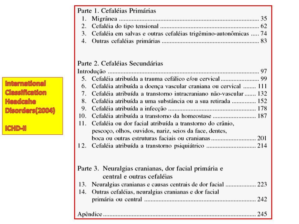 International Classification Headcahe Disorders(2004) ICHD-II