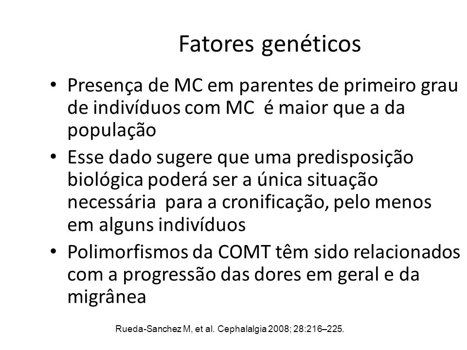 Rueda-Sanchez M, et al. Cephalalgia 2008; 28:216–225.