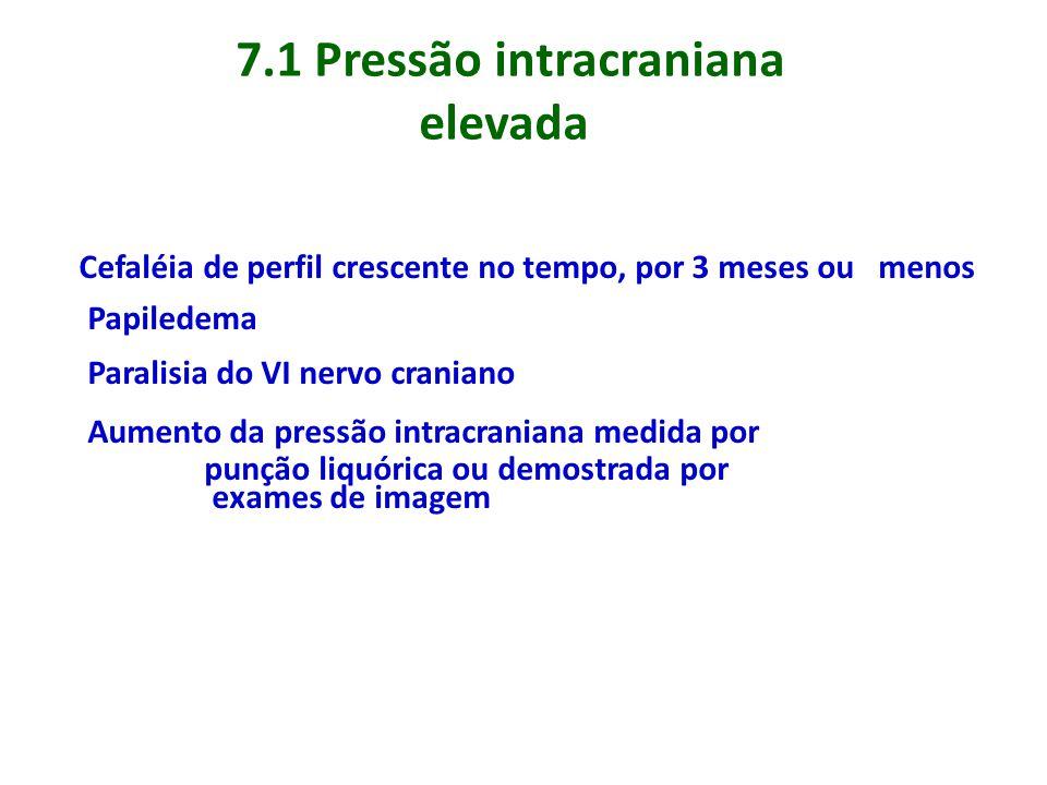 7.1 Pressão intracraniana elevada