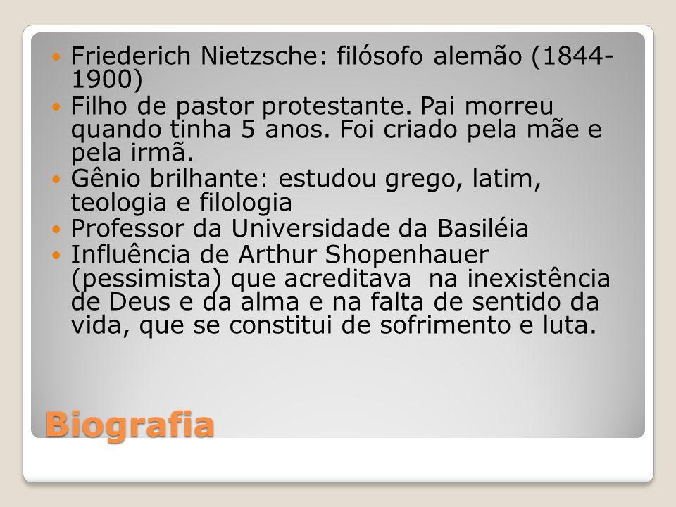 Biografia Friederich Nietzsche: filósofo alemão (1844- 1900)