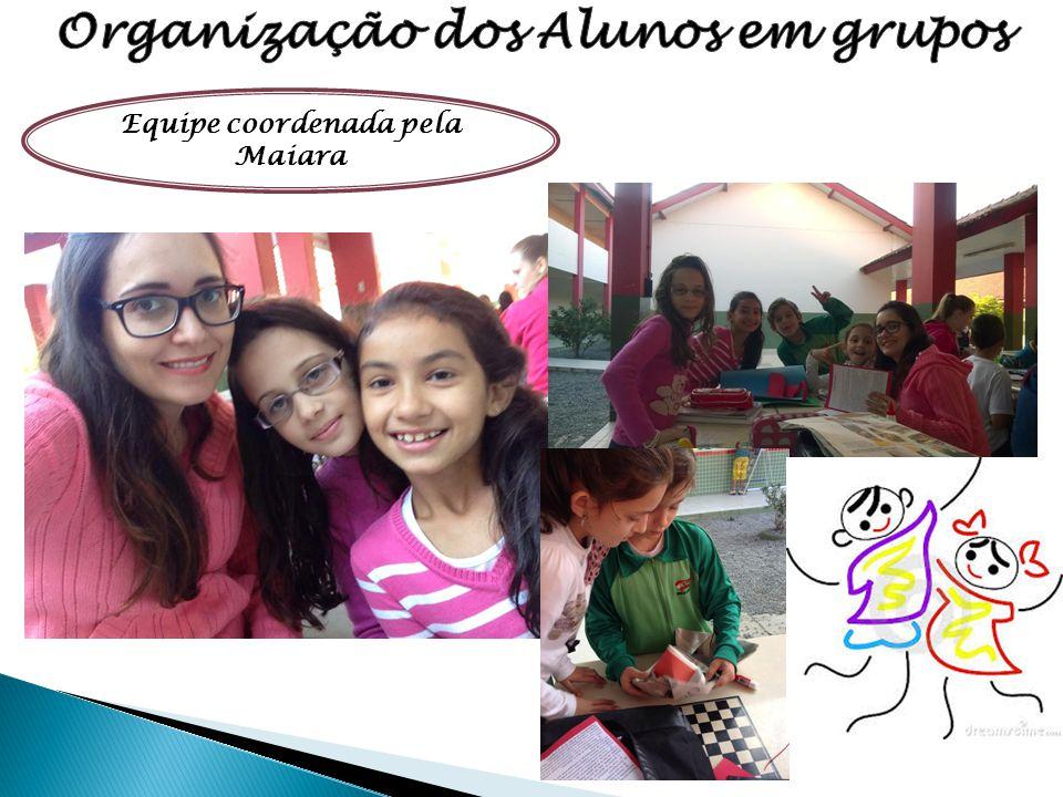 Organização dos Alunos em grupos Equipe coordenada pela Maiara