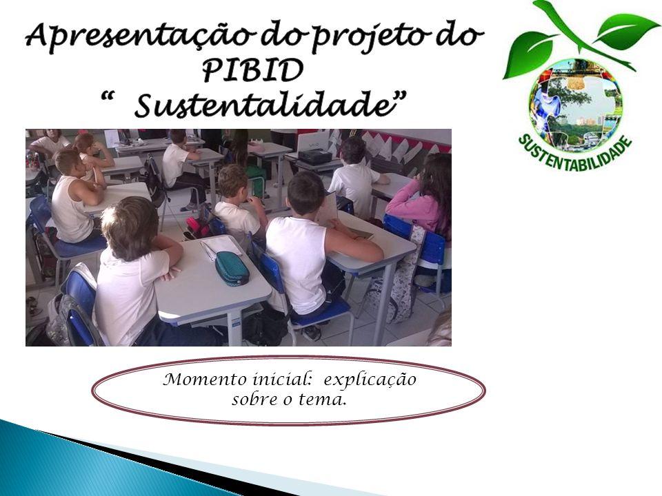 Apresentação do projeto do PIBID