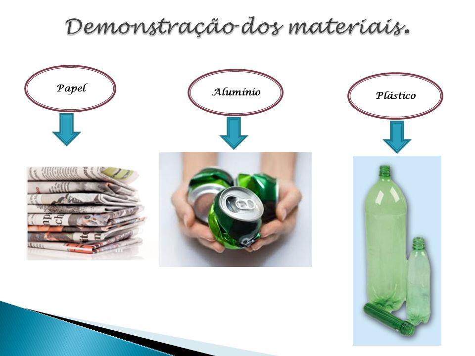 Demonstração dos materiais.