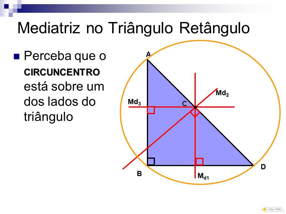 Mediatriz no Triângulo Retângulo